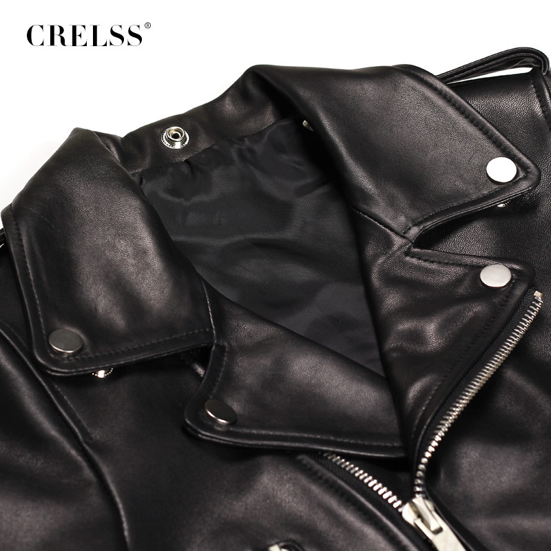 Brand Leather Jacket Women 2015 Autumn leather Outerwear Motorcycle Jackets Black Short Slim Coat free shipping