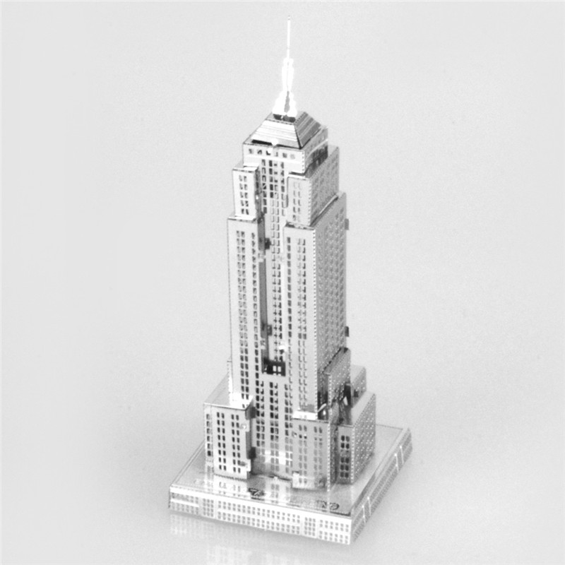 Starz Empire State Building 3D DIY Puzzles Metal Model Craft Stainless Steel Construction Kits Toys Gifts(China (Mainland))