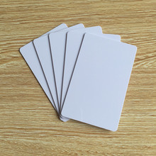 100 Blank Printable PVC Plastic Photo id White Credit Card 30Mil CR80 free shipping(China (Mainland))