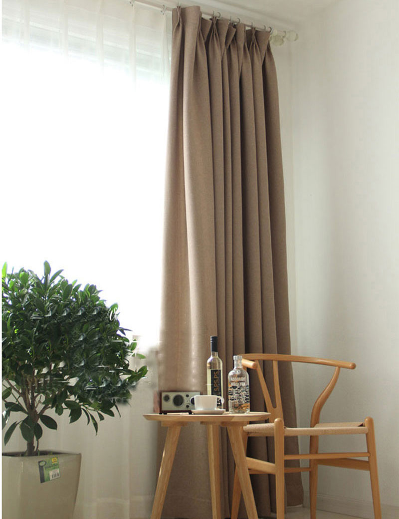 Solid color Blackout curtains Modern Bedroom Decorations Drapes Hooks top Thermal Insulated Window curtain panel(color of 7)(China (Mainland))
