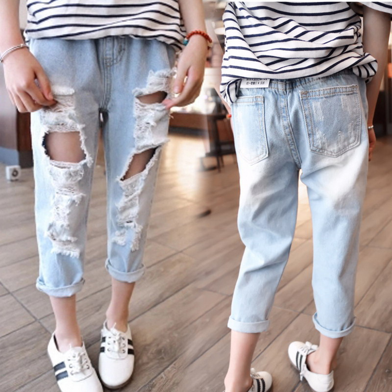 Popular Ripped Holes Jeans for Girls-Buy Cheap Ripped Holes Jeans ...