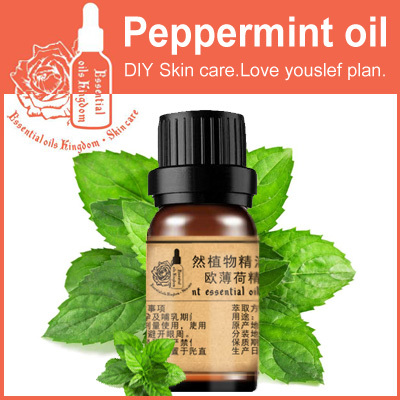 Essential oils kingdom, 100% pure plant peppermint oil 10ml For relieve tired clean pores blackhead remover cleansing(China (Mainland))