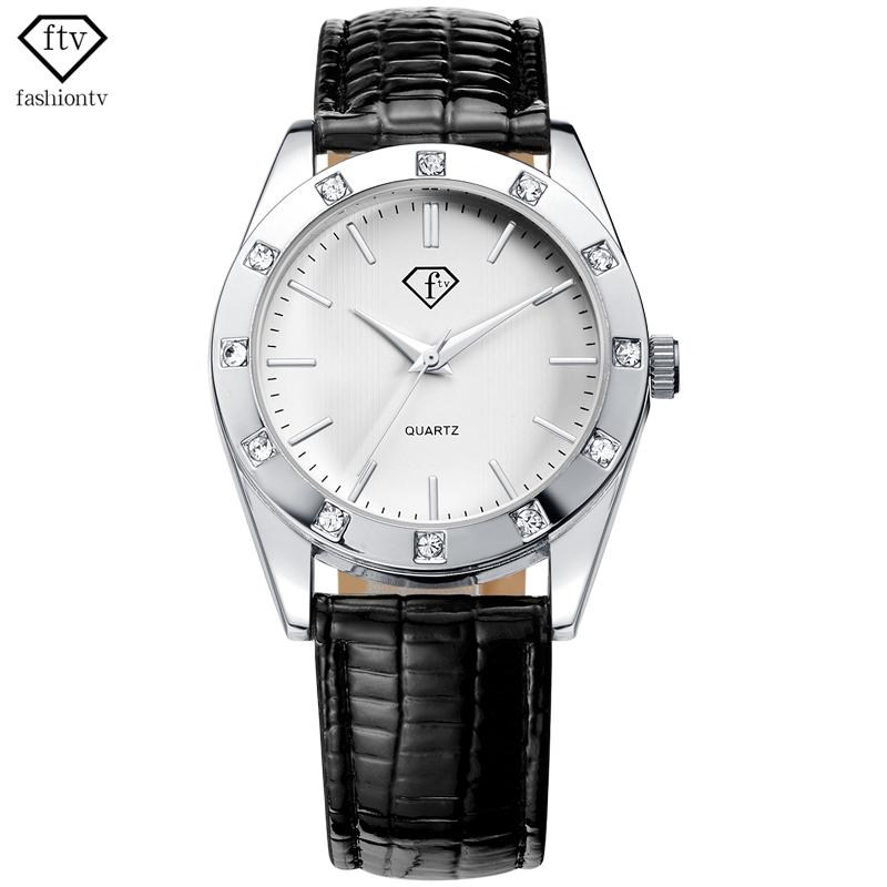FTV Meeting Vogue Leather Band Clock Woman Original Date Waterproof Quratz-watches Women Elegant Business Relogio Feminino<br><br>Aliexpress