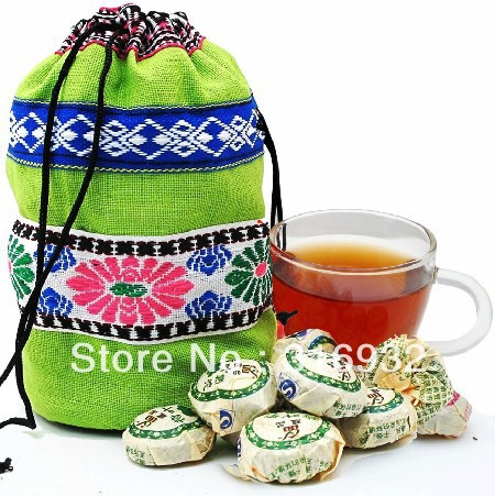 Free Shipping 50pcs 10 Kinds Flavor Pu er Tea Yunnan Puer tea weight lose product 250