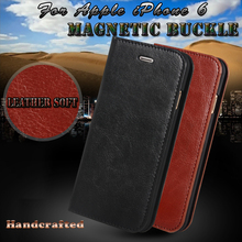Royal Retro Genuine Leather Phone Case For Apple iPhone 6 6S 4.7 / 6 6S Plus 5.5 Flip Cover wallet with card Luxury Brand Case