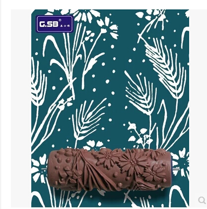 6inch Paint Roller Wall Painting Roller Decorative Rubber Patterned Paint Rollers Liquid Wallpaper Soft Rubber Blue <br><br>Aliexpress
