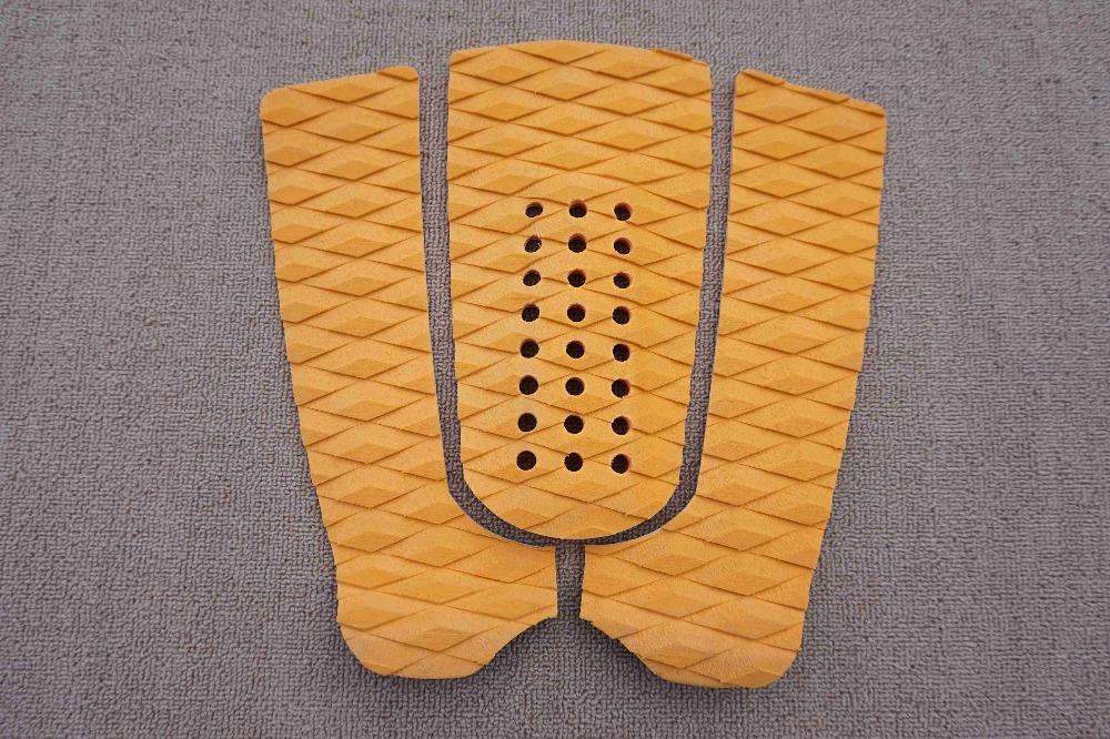 Free shipping top quality yellow color EVA surf pad surfboard tail pad surfboards pads grip traction pad(China (Mainland))