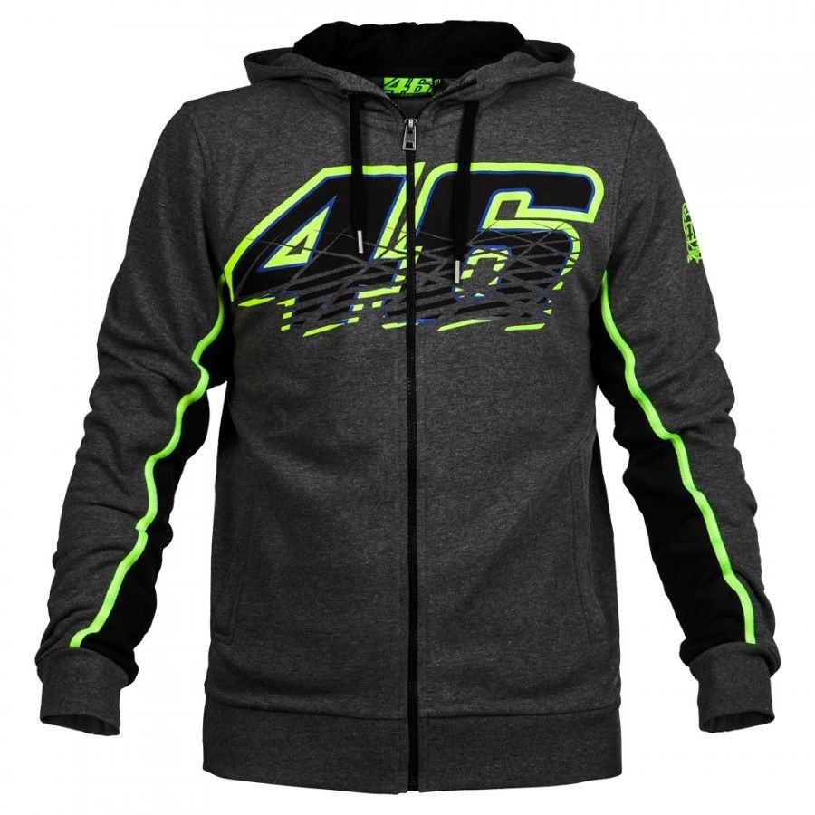 free shipping 2016 NEW Racing Valentino Rossi VR46 Panel Moto GP Zip Hoodie Sports MOTOGP Motorbike Coat