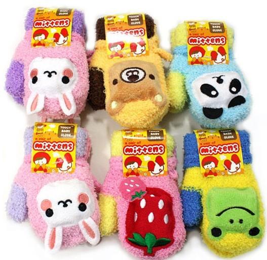 1pairs Free Shipping  Child Cartoon Gloves & Mittens Children Full Finger Gloves Boys Girls Gloves Retail #0856