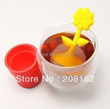 Potted Rose Tea Infuser Christmas Tree Tea Bags Tea Strainers Silicone Tea Filter Tea Stick