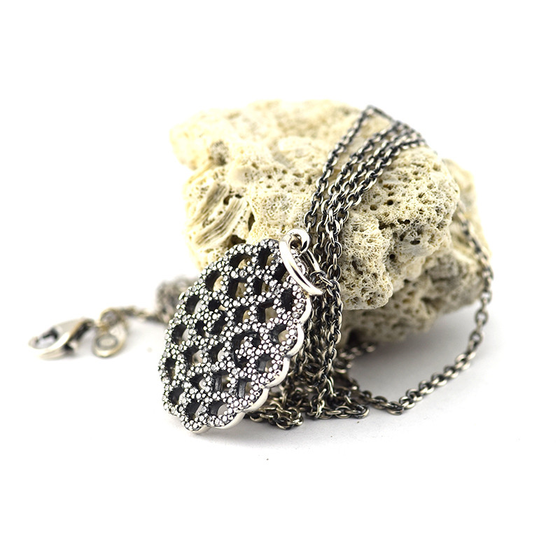 Compatible with Pandora Jewelry 925 Silver Shimmering Lace Pendant Necklaces Sterling-Silver-Jewelry Floating Charm DIY Jewelry<br><br>Aliexpress