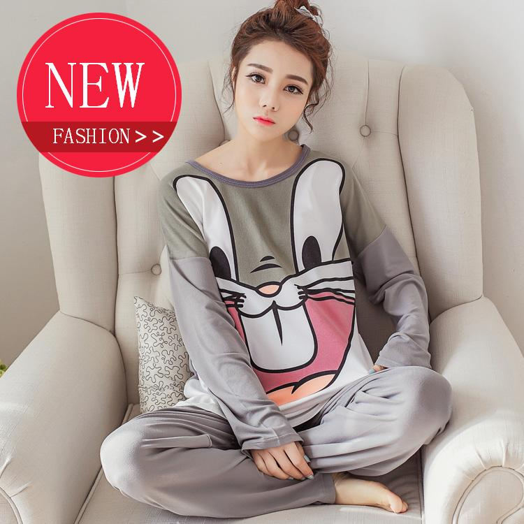 2016 Spring Women Pajama Sets Autumn Sleepwear Pajamas girls night Homewear For Women Plus Size Nightgown Free Shipping(China (Mainland))