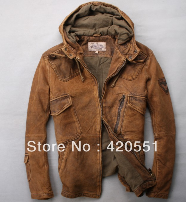 Brown Leather Jacket Motorcycle - Jacket