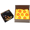 7pcs Dragon ball z crystal balls 3 5cm set with box 2016 New Dragonball z ball