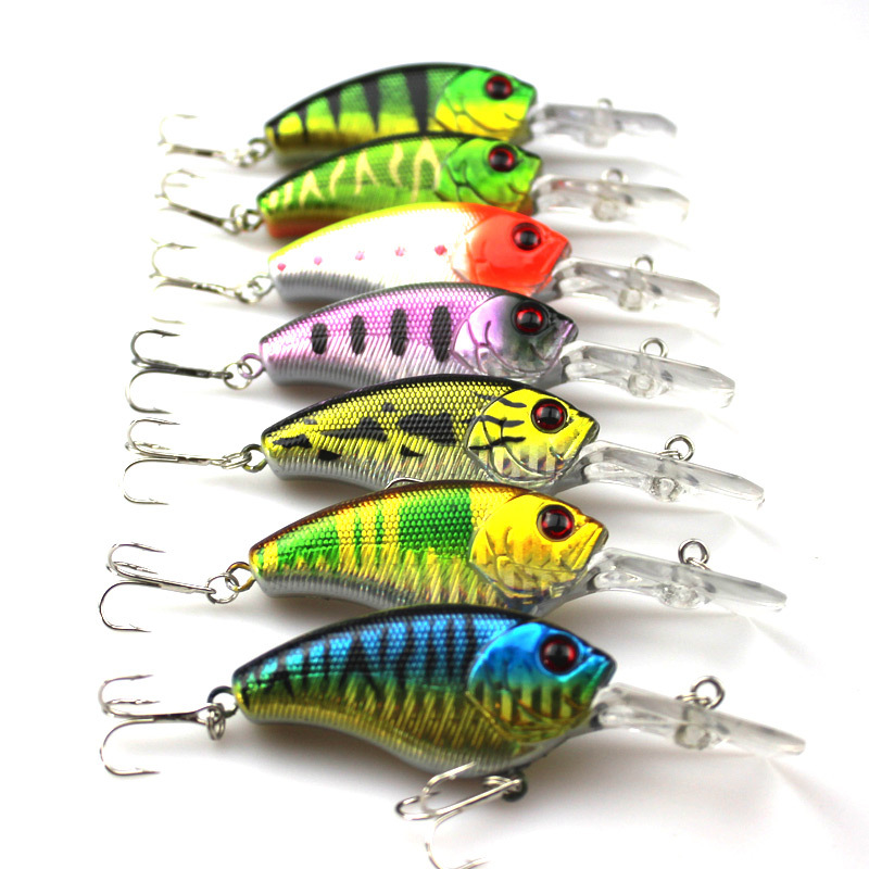 100pcs/lot Crank Fishing Lures artificial Small mixed batch 11.5G rock plastic bait set false bait bionic bait manufacturers spo(China (Mainland))