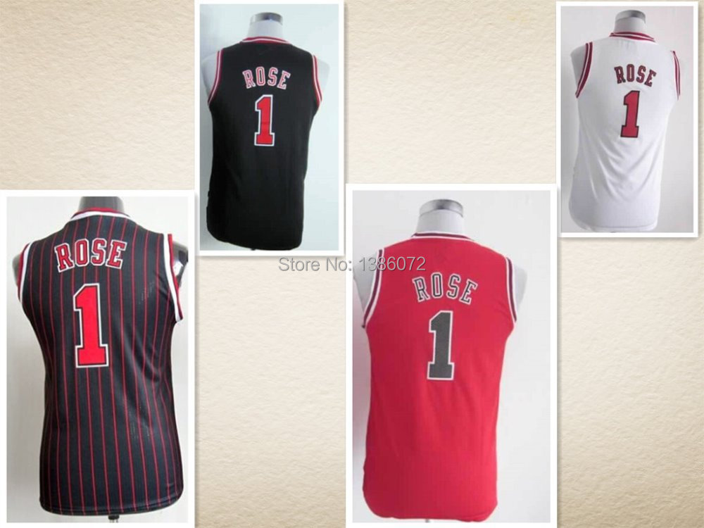 #1 Derrick Rose Jersey,Kids/Youth Basketball Jersey,Best quality,Authentic Jersey,S--XL,Accept Mix Order - jerseys store