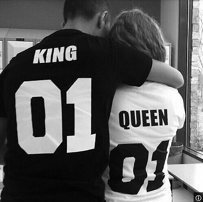 black white color king queen 01 couple shirt play comme des garcons women stylish T shirt fashion shirtsОдежда и ак�е��уары<br><br><br>Aliexpress