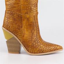2019 Mới Thời Trang Nữ Đi Giày Da Cao Gót Mùa Xuân, Mùa Thu Giày Người Phụ Nữ Da Bò Nữ Mắt Cá Chân Giày(China)