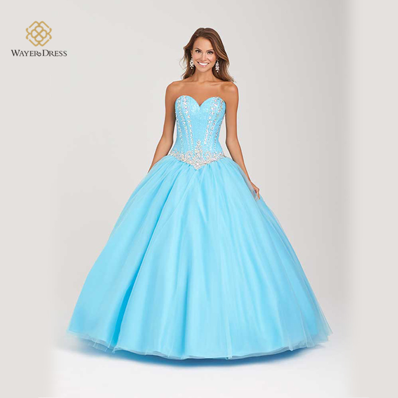 Light Blue Sparkly Prom Dresses - Missy Dress