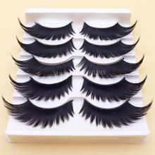 Black Winged Exaggerated False Eyelashes Soft Long Section Thick Cross Messy Lashes Performing Arts Stage Makeup Fake Eyelashes(China (Mainland))