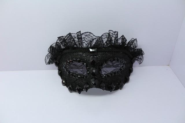 2013 prom princess embroidery flower lace rhinestone mask black male Women mask