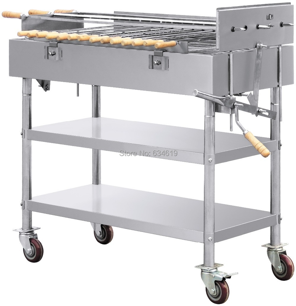 Best quality stainless steel charcoal bbq with wheel