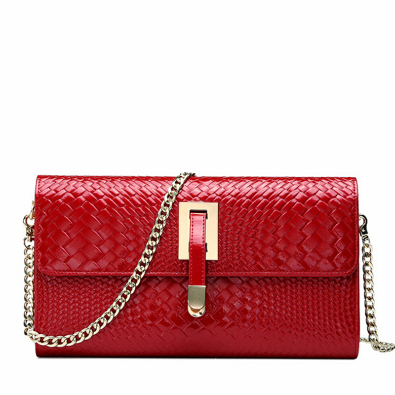 100% Geniune Leather Clutch Purse Vintage Small Evening Clutch Bag Red Bridal Wedding Party ...