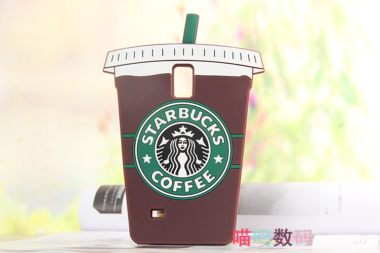 Cute 3D Cartoon Starbucks Coffee Cup Silicone Case Samsung Galaxy S4 S5 S6 Note 3 4 A5 A7 E5 E7 phone Cover,free ship - Factory case store