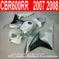 Injection molding plastic fairings for Honda CBR600RR 07 08 white black motorcycle fairings kit CBR 600RR