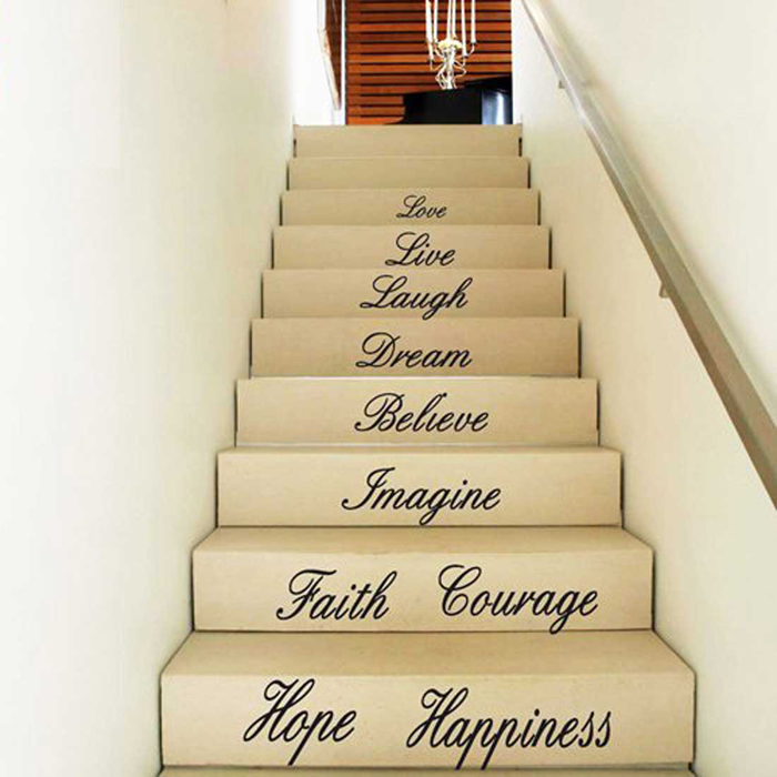 stair case wall decal DIY wall decal art quote wall decal sticker ...