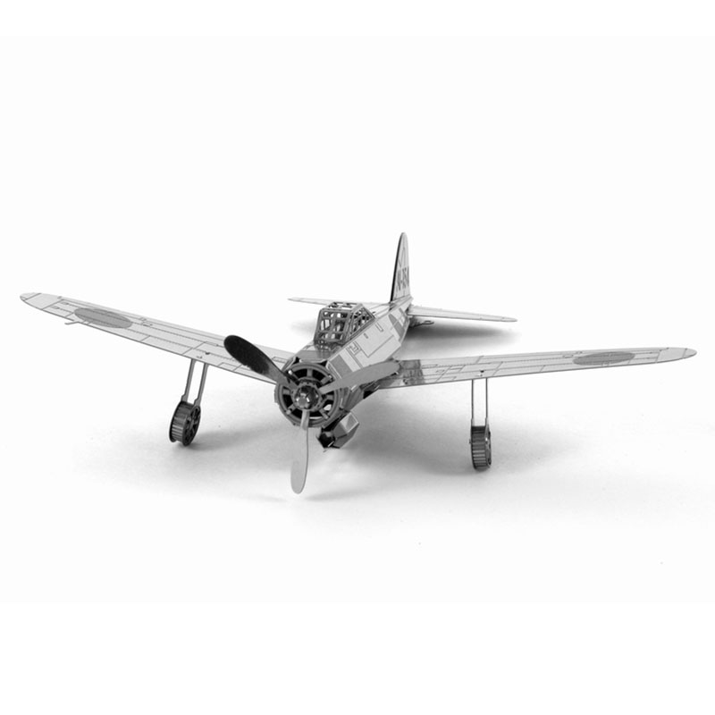 3D Puzzle Metal DIY Mitsubishi A6M Zero Military Aircraft Airplane Model Leisure Jigsaws Kids Children's Favorite Best Gift Toys(China (Mainland))