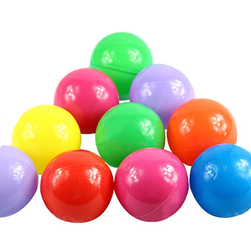 100pcs Colorful Fun Balls Soft Plastic Ball Pit Balls Baby Kids Tent Swim Toys Ball(China (Mainland))