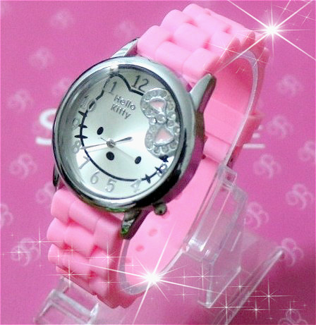 2015 New Brand Hello Kitty Women Watches Jelly Sport Watch Quartz Girl Dress Children Cartoon Wristwatches relojes mujer - Qin billion trading company store