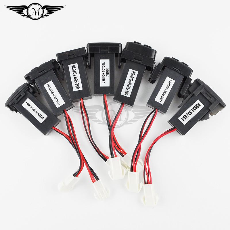 Special Dual 2 port USB Charging Car Charger for Toyota/Suzuki/Honda/Mitsubishi/Nissan/VIGO/Mazda Sa