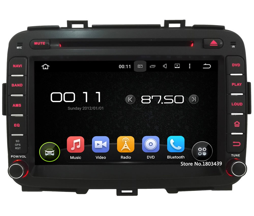 "Quad Core 8"" 1024*600 2DIN Android 5.1.1 Car Multimedia DVD Player Radio Screen FM DAB+ 3G/4G WIFI GPS Map For KIA Carens 2013"