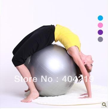 gratis verzending- fitness gym fit yoga kern bal 55cm buik rug been training( 4 kleuren: blauw grijs paars roze)(China (Mainland))