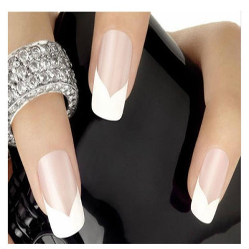 240PCS French Manicure Stickers For Nails Nail Art Decorations Nail Stickers Decals Form Guides Sticker DIY French Manicure(China (Mainland))
