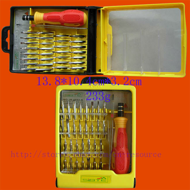 32 IN 1 TOOL SET PHONE SCREWDRIVER TORX T3 T4 T5 T6 T7(China (Mainland))
