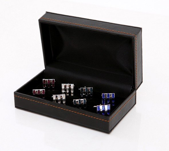New Arrival! Cufflinks Holders 6pcs/lot top quality PU leather material 6 pairs suits 14*8*5cm free shipping+100% guaranteed<br><br>Aliexpress