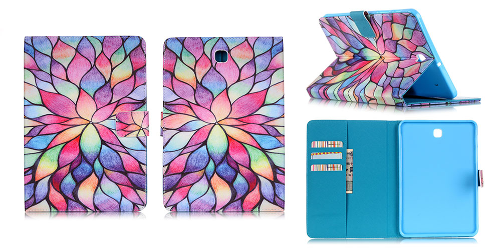 High Quality For Samsung Galaxy Tab S2 8.0 T710 SM-T710 T715 T715N 8inch Painted Style Leather TPU Case with Card Slots