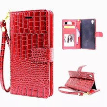 Buy Luxury Wallet Case Sony Xperia Z5 E6603 E6633 E6653 E6683 Flip Cover Croc PU Leather Phone Bags Case Sony Xperia Z5 Dual for $4.99 in AliExpress store