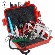 Tourist Tent Equipment SOS Knives Military Outdoor Survival Travel Kits Lighters Rope Fire Starter For Hunting Camping Hiking