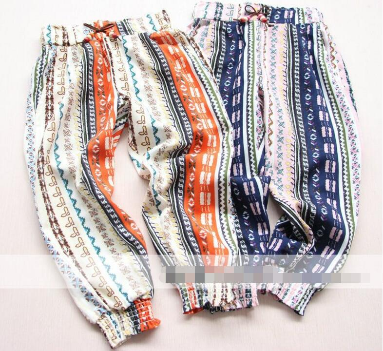 2 color Girls Beaded chalaza decorative design casual pants Childrens clothing wholesale<br><br>Aliexpress