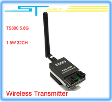 Free shipping 2014 New 32 frequencies 1.5W TS800 FPV 5.8G 32CH 1500mw Wireless AV Transmitter for Drone rc quadcopter X toy gift