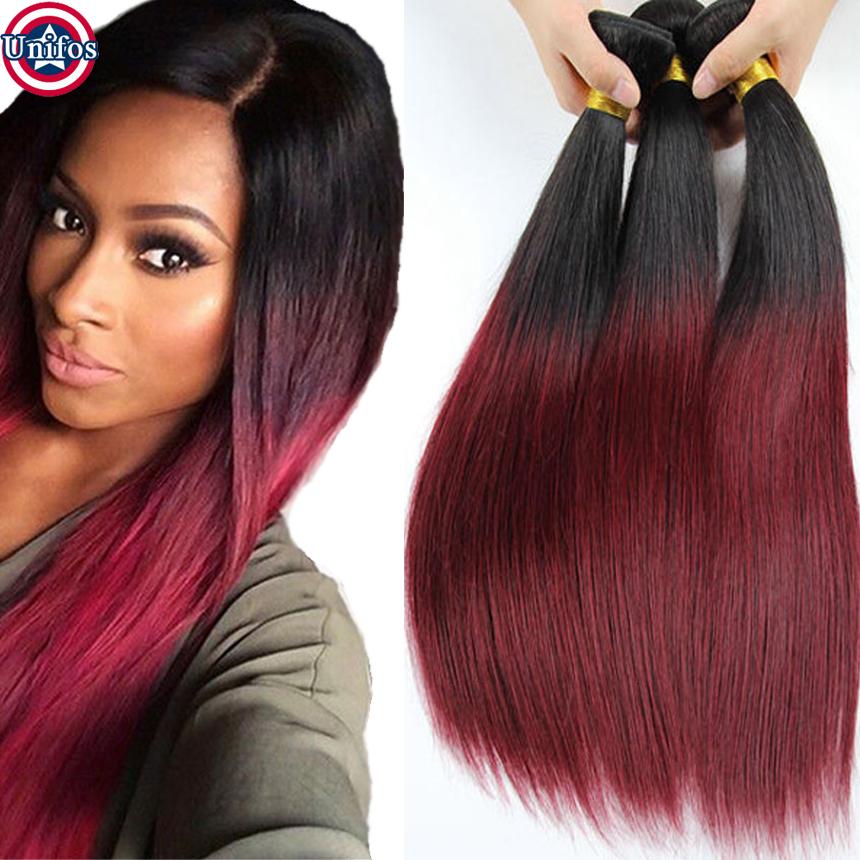 Ombre Hair Extensions Malaysian Virgin Hair Straight Ombre Human Hair Weave 99j Ombre Malaysian Hair Straight Ombre Weave LW014<br><br>Aliexpress