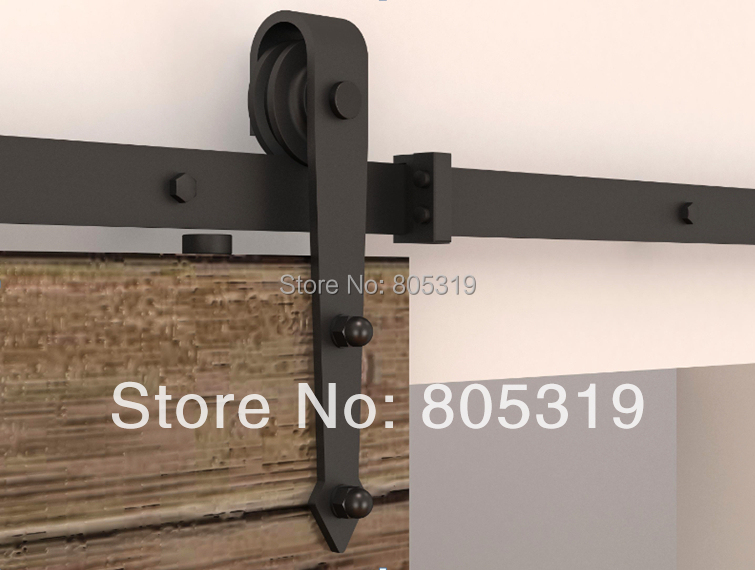 195cm sliding barn door hardware interior american sliding for Kit decoration porte isoplane