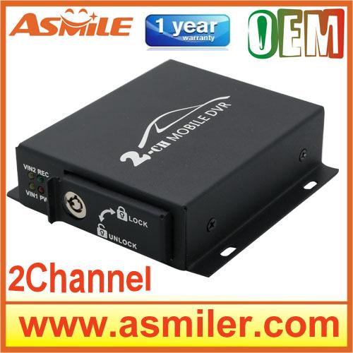 2015 new 2Ch Vehicle car Video Recorder Car/Bus mini Mobile Car Video DVR I/O Alarm Motion Detect Max Upto 128GB SD Card(China (Mainland))