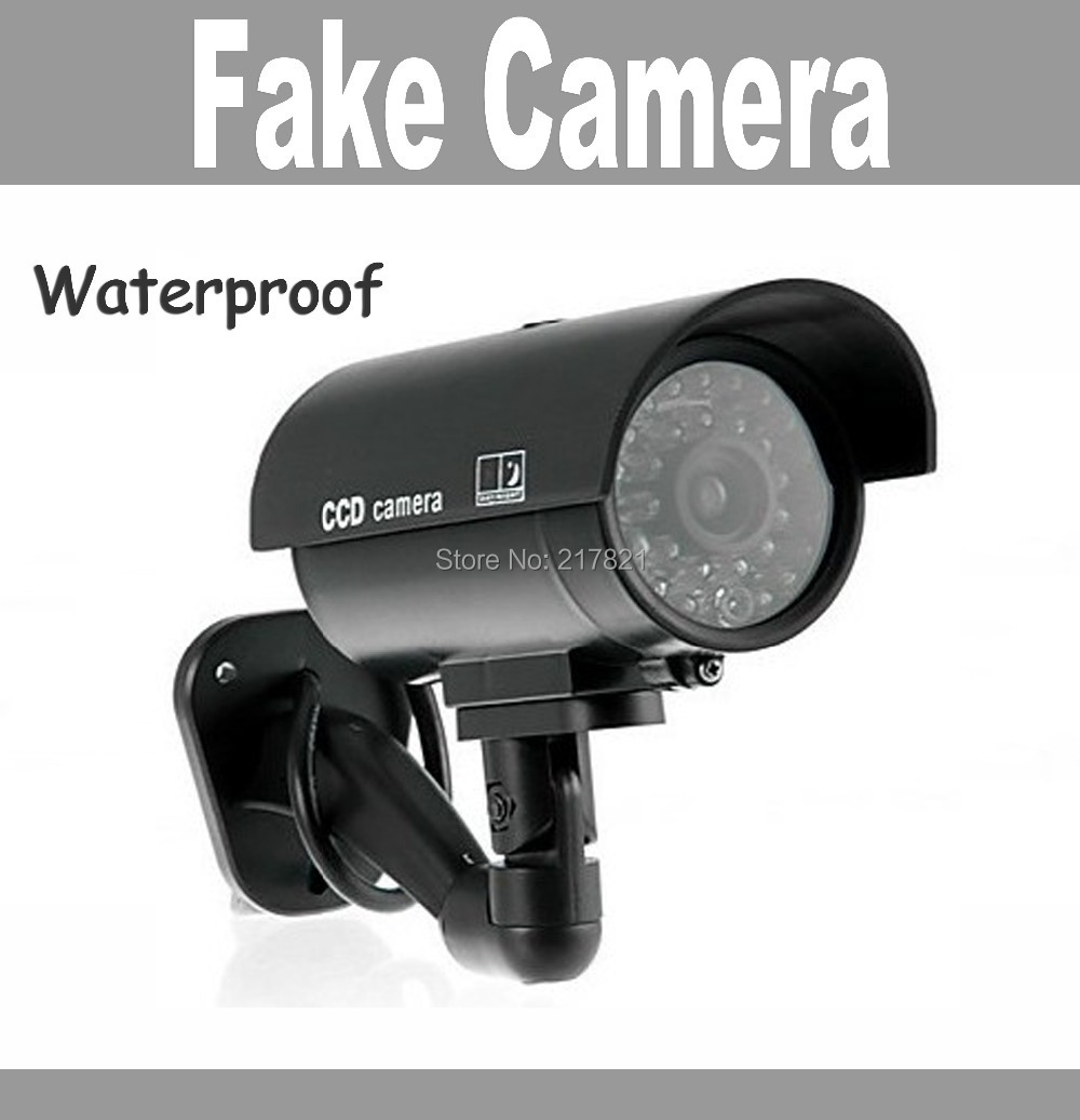 Fake camera Dummy Emulational camera cctv camera bullet waterproof outdoor use for home security with flash LED Free Shipping(China (Mainland))