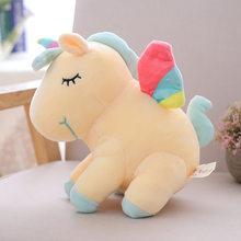 """21 """"Rainbow Asas Unicórnios brinquedo de Pelúcia Bichos de pelúcia Rosa Unicorn Flying Horse Dormir Boneca Macia Do Bebê Toy presente para bebê Menina(China)"""