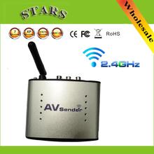 Hot 2.4G Wireless AV Transmitter & Receiver Audio Video sender TV Signal receiver IR Remote Extender 3 RCA PAT220,Free Shipping(China (Mainland))